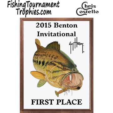 Bass Fishing Tournament Plaque 0001