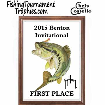 Bass Fishing Tournament Plaque 0002
