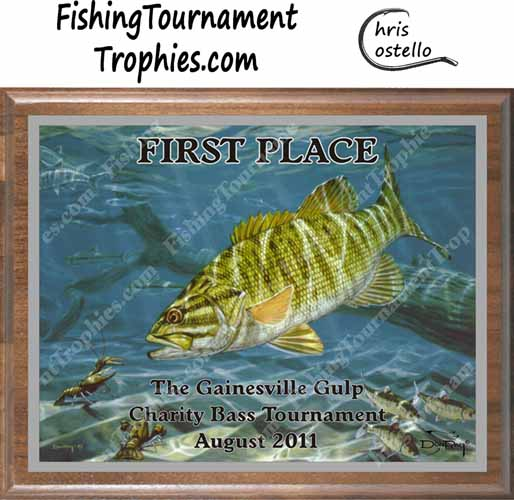 Bass Tournament Trophies, Smallmouth Bass