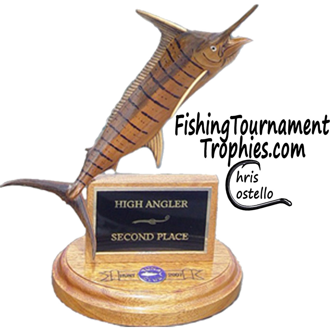 Striped Marlin Trophy, Standard, Natural Finish