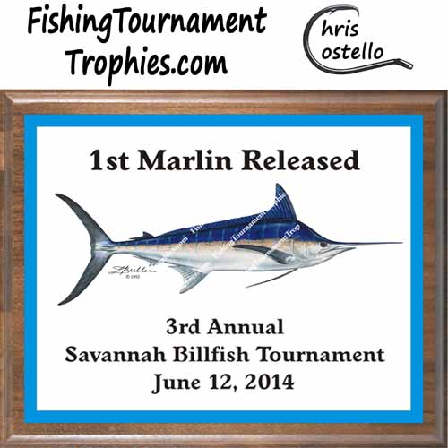 Blue Marlin Fishing Trophy