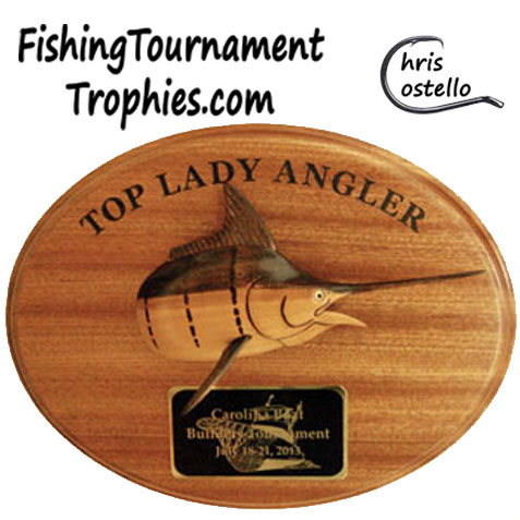 Blue Marlin Trophy Plaque, Model 0022