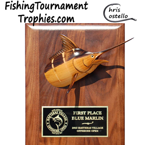 Blue Marlin Trophy Plaque, Model 0024