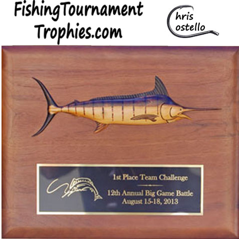 Blue Marlin Trophy Plaque, Model 0010