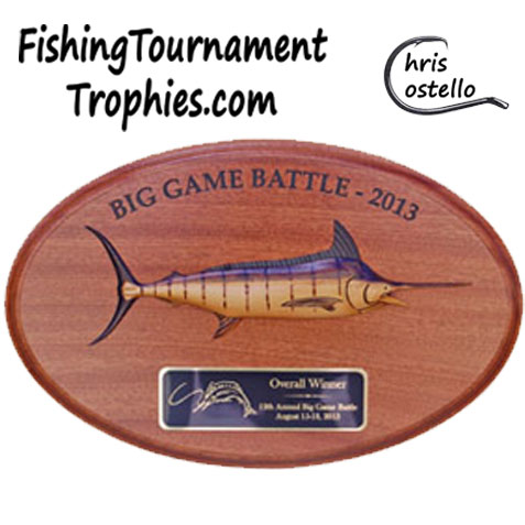 Blue Marlin Trophy Plaque, Model 0008