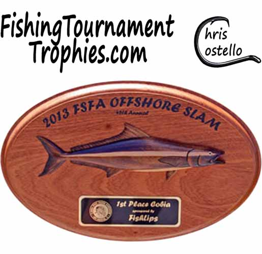 Cobia Trophy Plaque, Model 0021