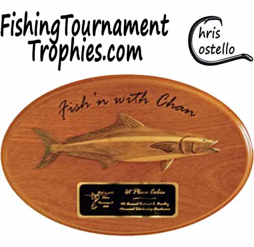 Cobia Trophy Plaque, Model 0020