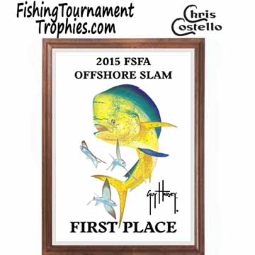 Dolphin Fishing Tournament Plaque 0002