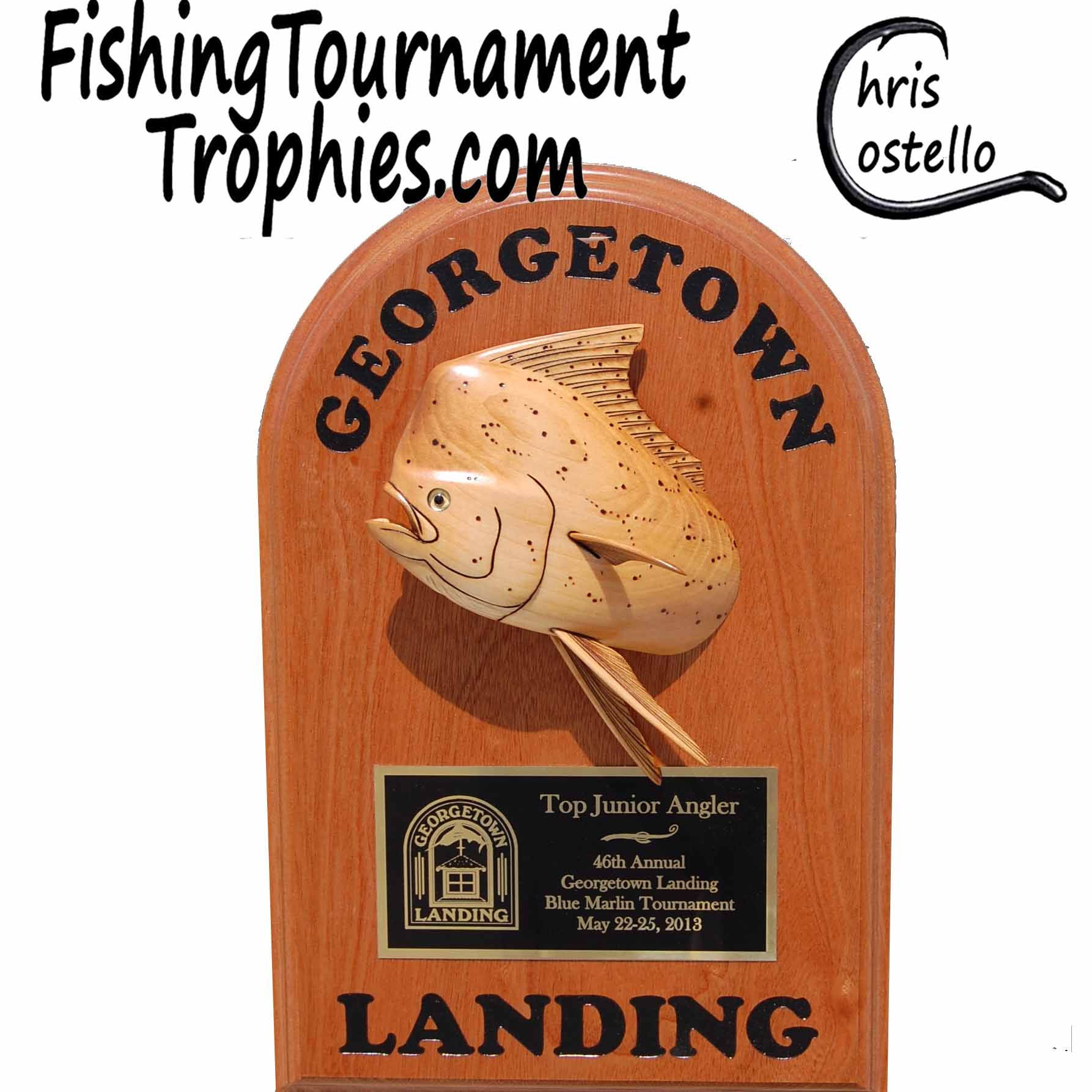 Dolphin Trophy Plaque, Model 0027
