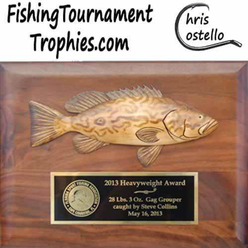 Grouper Trophy Plaque