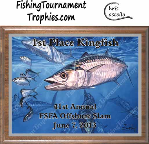 King Mackerel Tournament Trophies, King & Threadfins