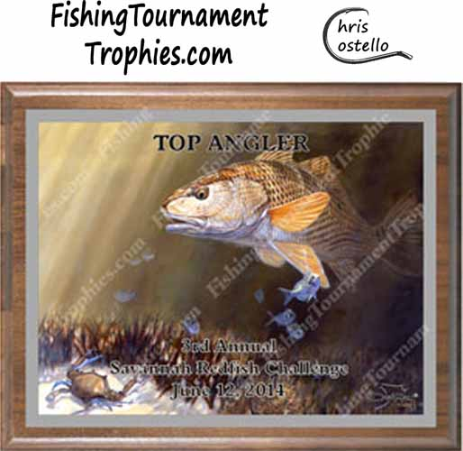 Redfish Fishing Awards, Red and Blue
