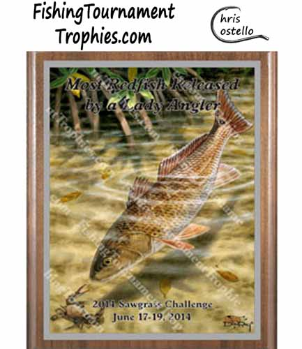 Redfish Tournament Trophies, Tailing Redfish