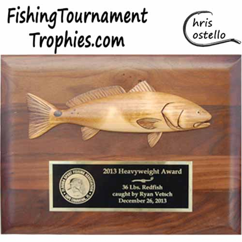 Redfish Trophy Plaque
