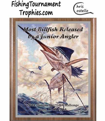 Sailfish Tournament Plaques, Flying High