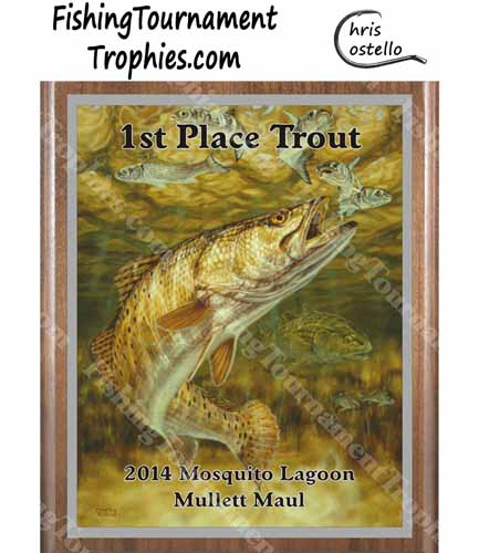 Seatrout Fishing Plaque, Gator Trout