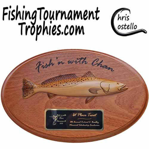 Seatrout Trophy Plaque, Model 0031