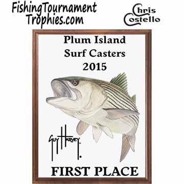 Striped Bass Fishing Tournament Plaque 0001