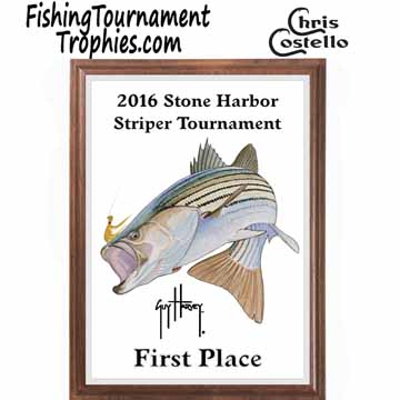 Striped Bass Fishing Tournament Plaque 0002