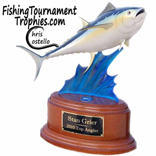 Yellowfin Trophy on Blue Wave