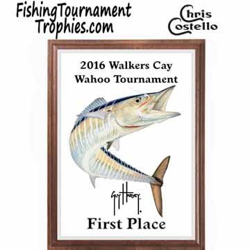 Wahoo Fishing Tournament Plaque 0001