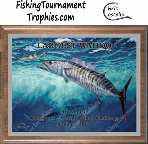 Wahoo Tournament Plaque, Who's On First?