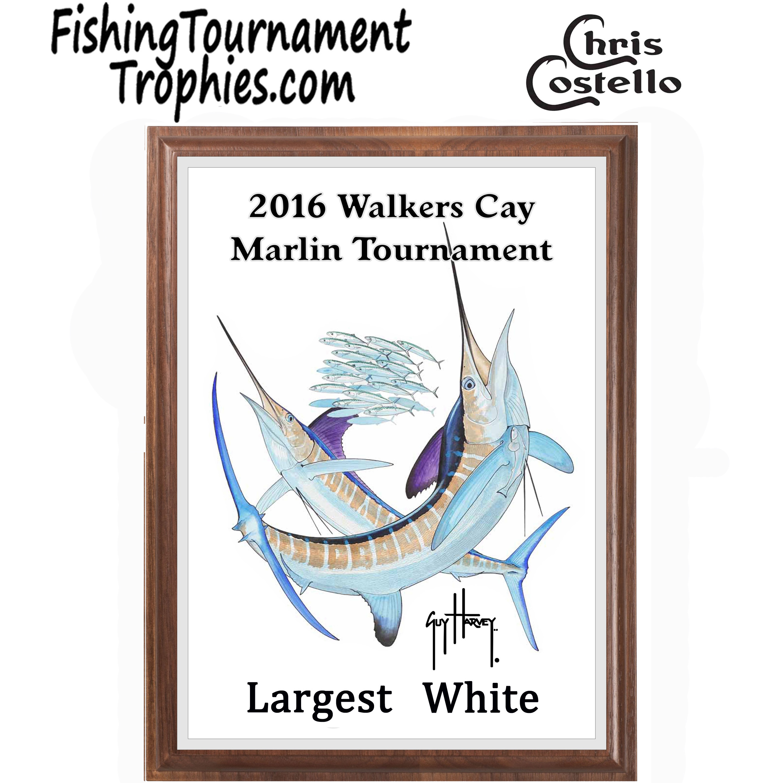 White Marlin Fishing Tournament Plaque 0001