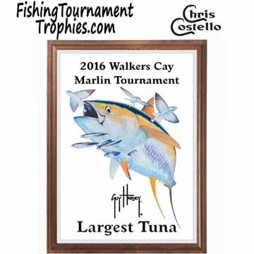 Yellowfin Tuna Fishing Tournament Plaque 0001